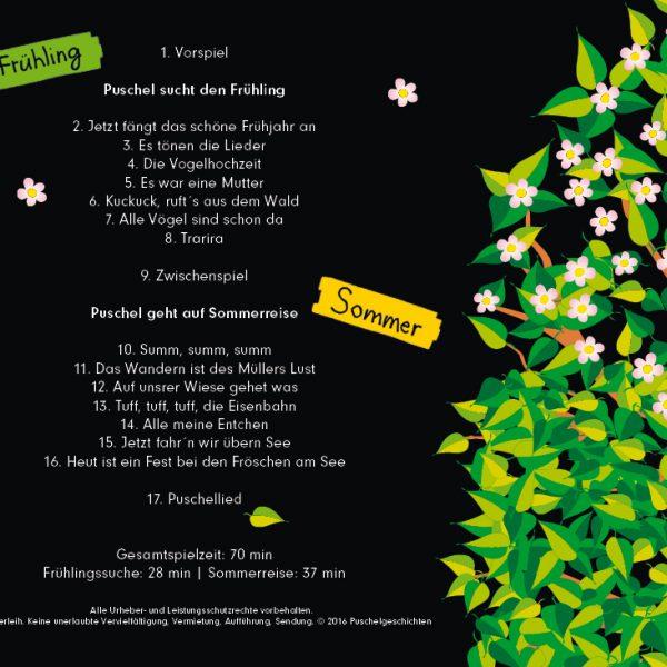 CD Puschel und die Jahreszeiten - Frühling I Sommer